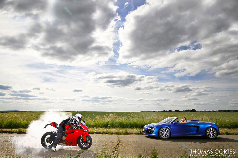 Photograph Audi R8 V10 vs Ducati 1199 Panigale by Thomas Cortesi on 500px