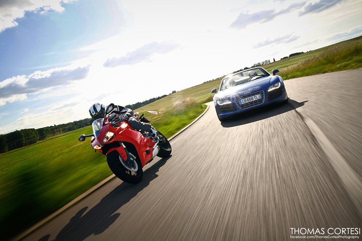 Photograph Audi R8 V10 vs Ducati 1199 Panigale by Thomas Cortesi on 500px