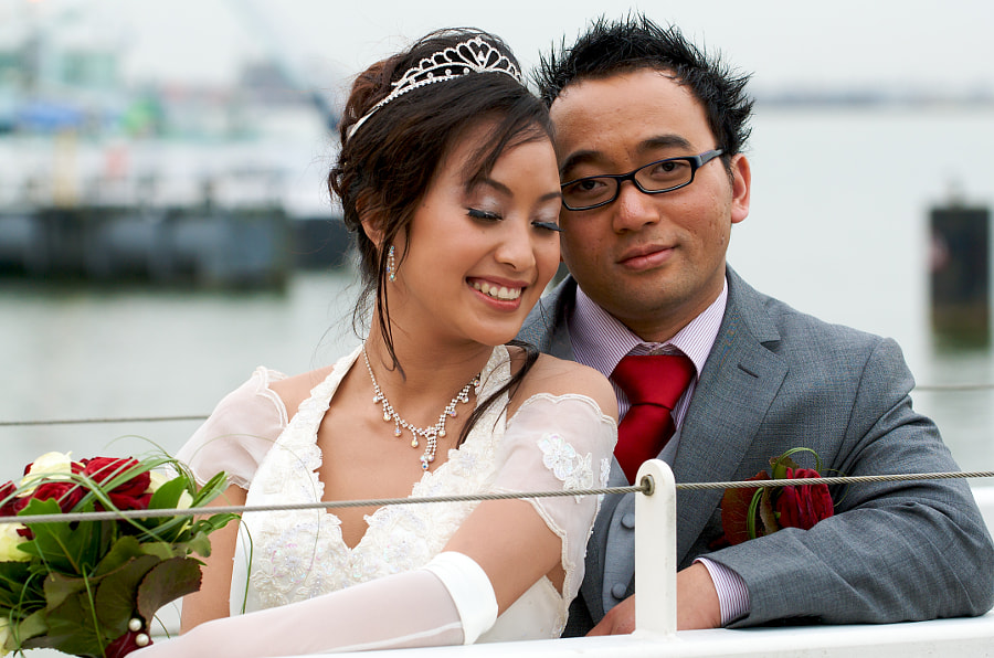 Bride and groom in Almere (Flevoland, Netherlands)