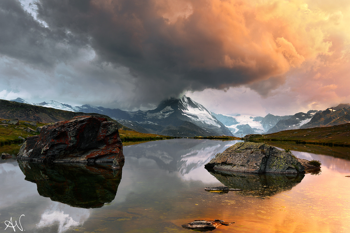 Photograph Sunset on the Matterhorn  by Andrea Visca on 500px