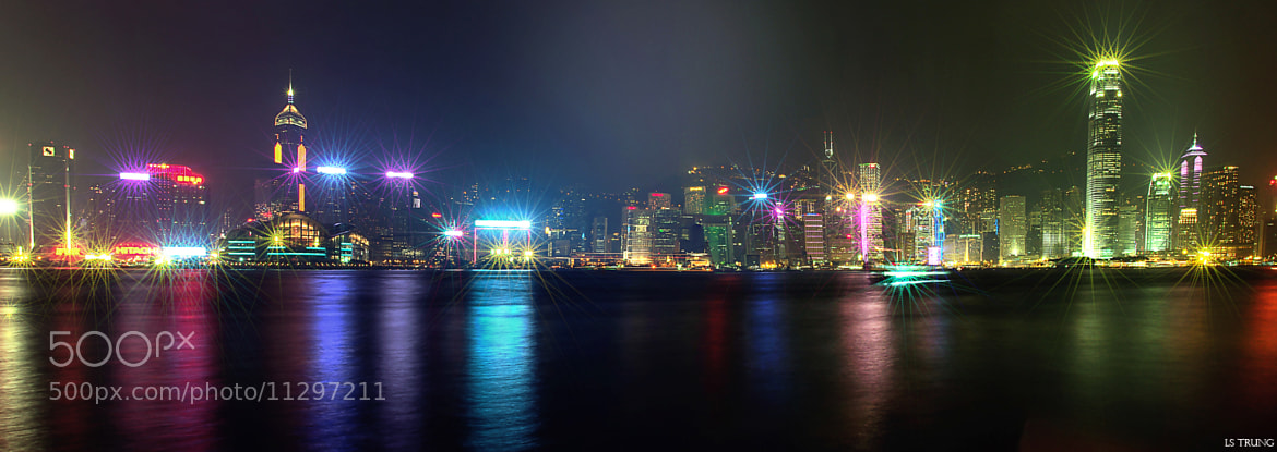 Photograph Hong Kong By Night (Panorama) by Ls Trung (Roger Nguyen) on 500px