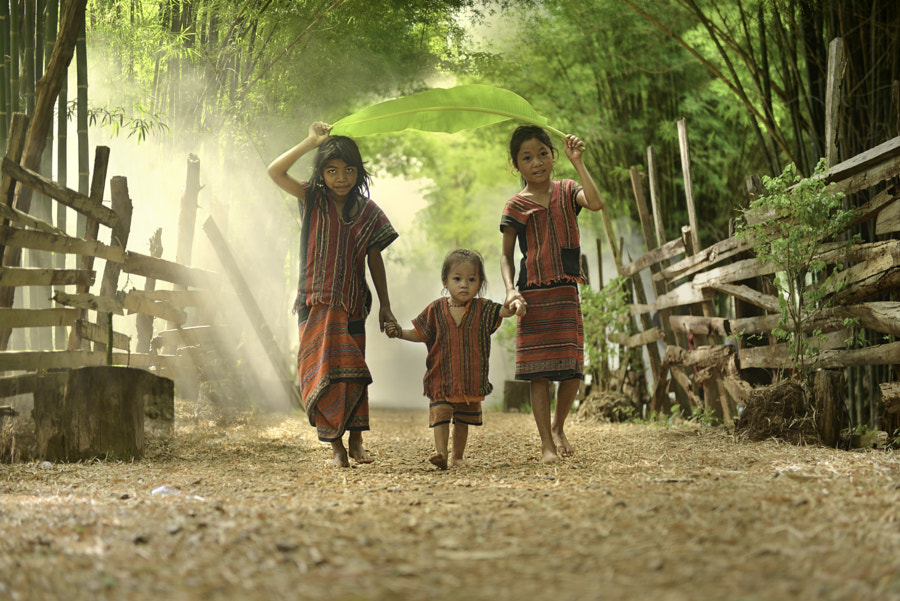tribal children by Nattaya Maneekhot on 500px.com