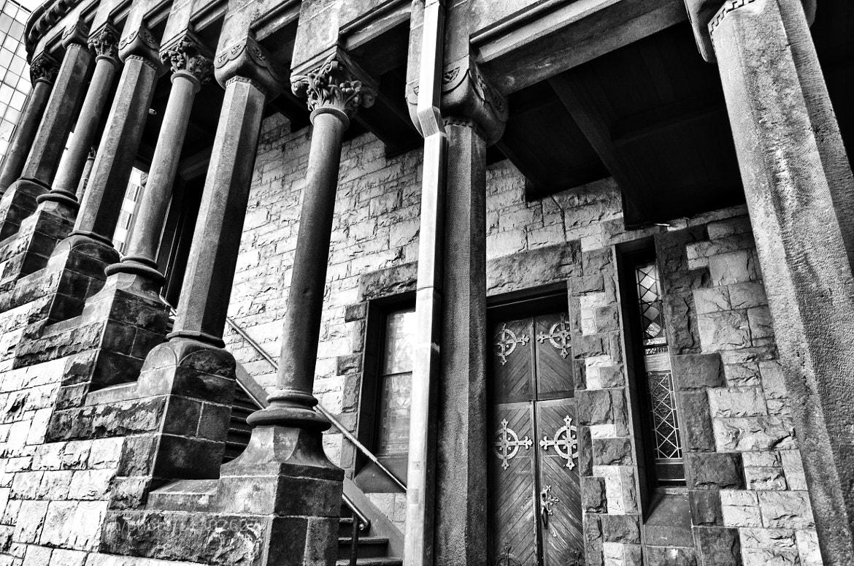 Photograph Church Pillars, Wall, Door by B C on 500px