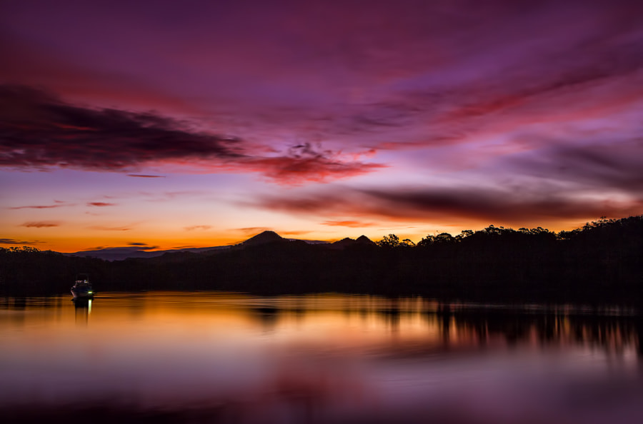 Brunswick River Sundown by Margaret Morgan on 500px