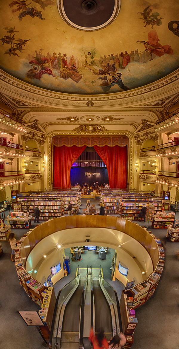 Photograph el Ateneo Bookstore, Buenos Aires by Taylor Moore on 500px