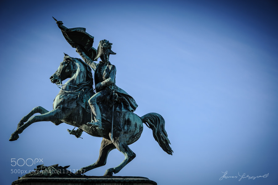 Statue of Napolean in the Peoples Garden in Vienna, Austria