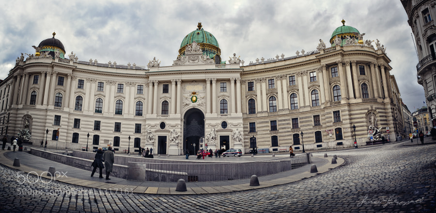 The Enterance to a Huge Palace in Vienna