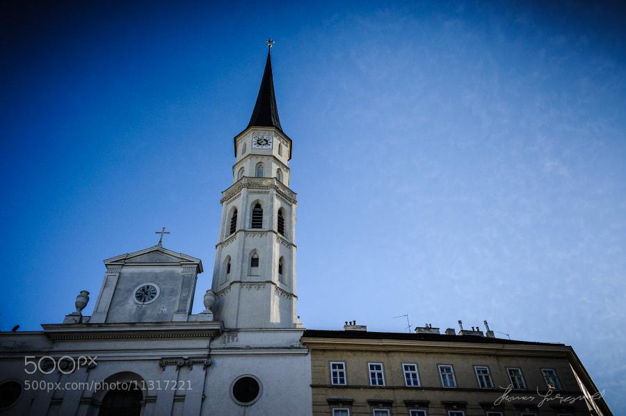Beautiful White Church in Vienna