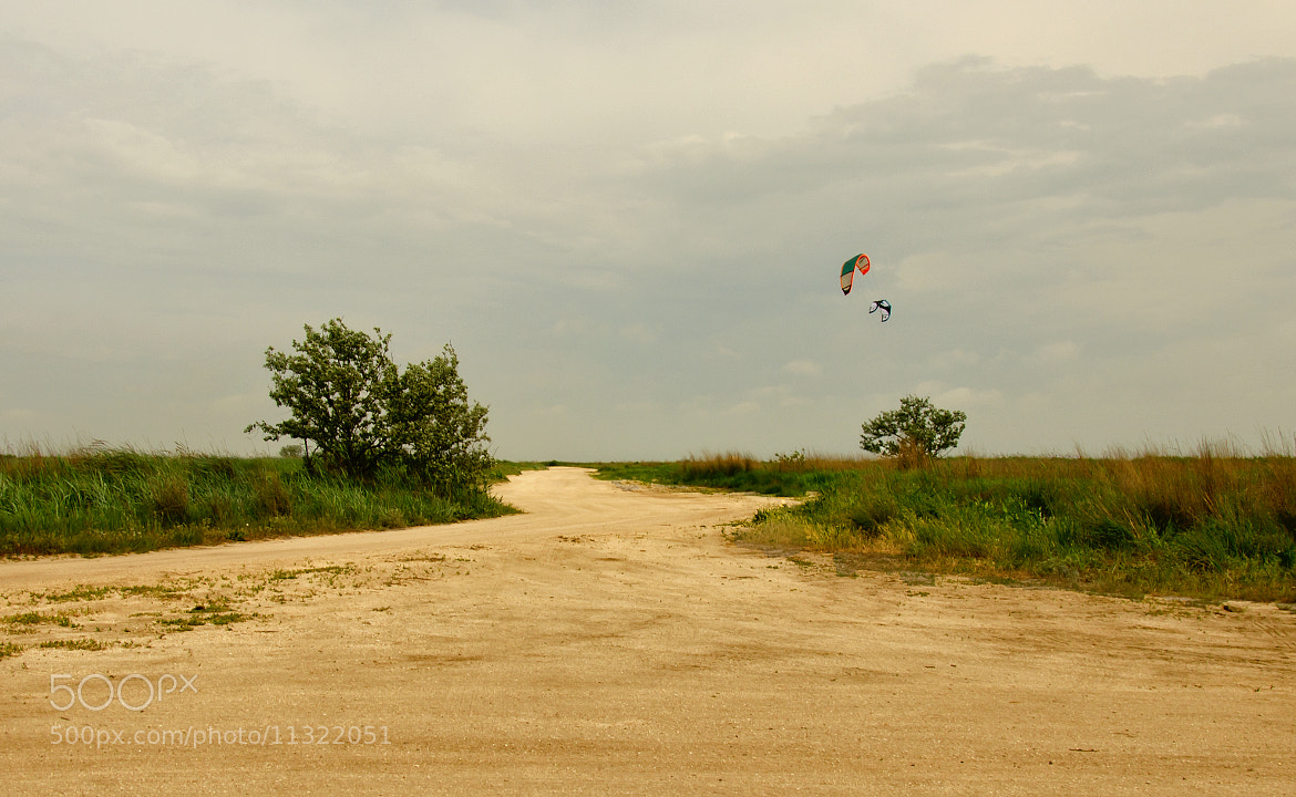 Photograph Sandy road&Lonely kites by Konstantin Ampilogov on 500px