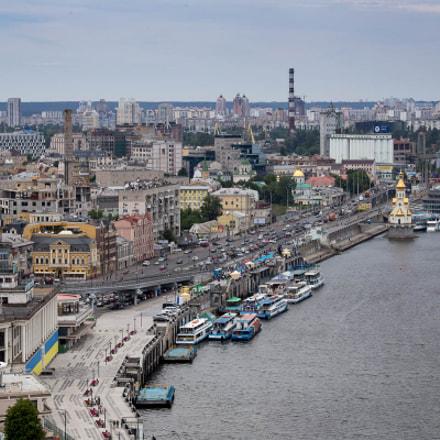 Podil district of kiev city Ukraine