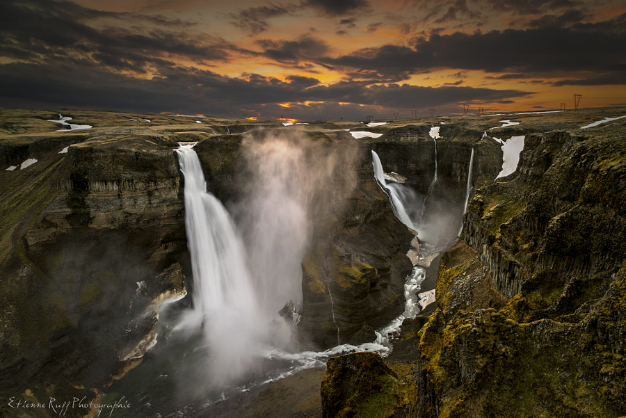Photograph Haifoss at sunrise by Etienne Ruff on 500px