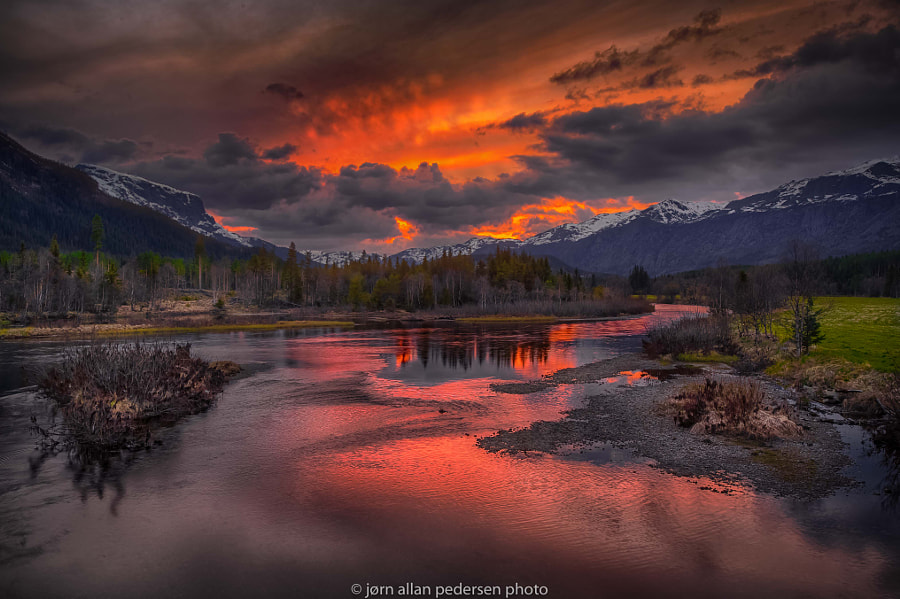 Photograph Fire in the Meltwater by Jørn Allan Pedersen on 500px