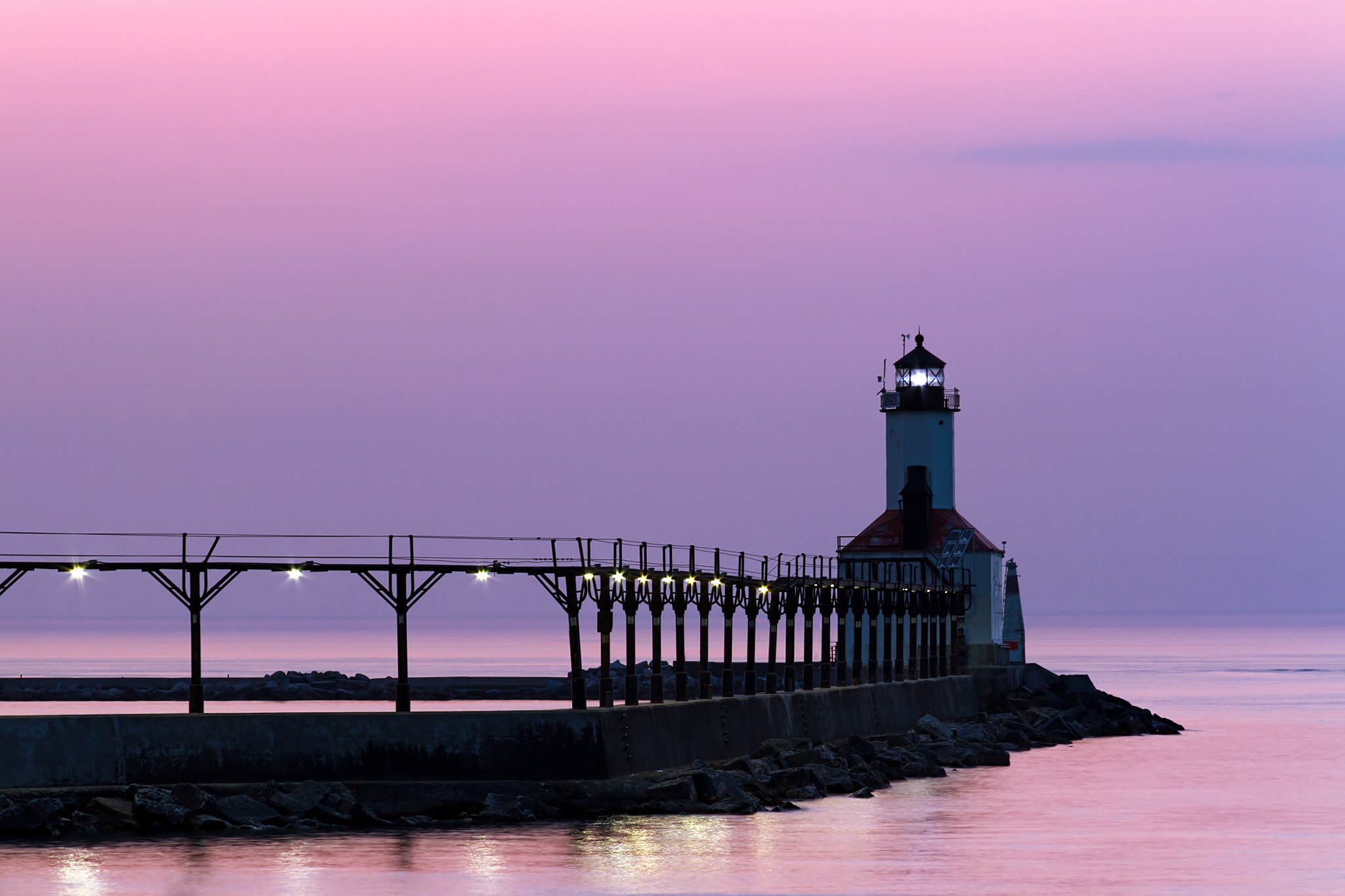 Photograph Michigan City Light at Twilight by Kenneth Keifer on 500px