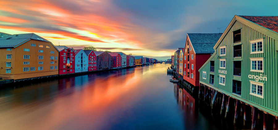 Trondheim Nidelva and Brygga by Aziz Nasuti on 500px.com