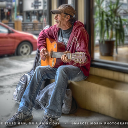 The Blues Man on a rainy day