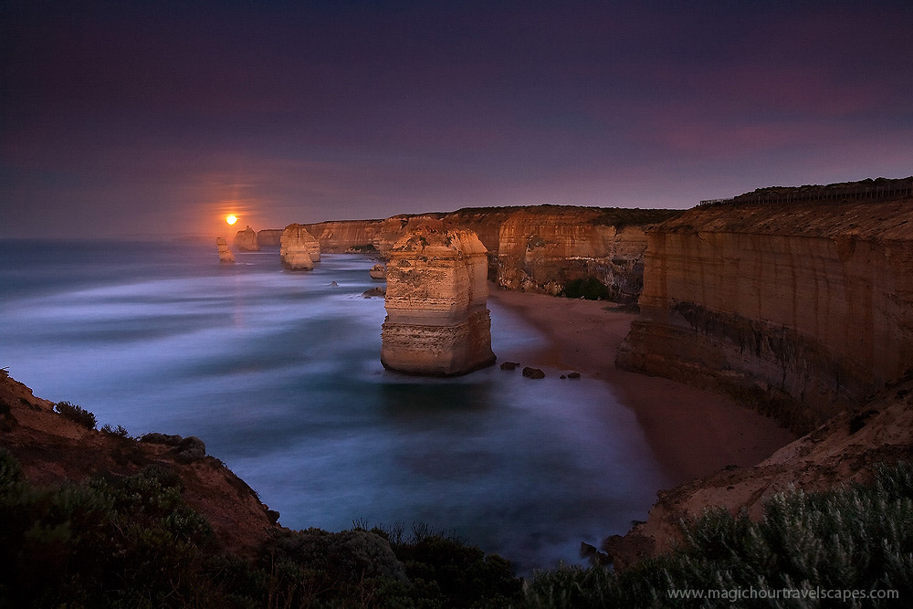 Photograph Mystical Moonset by Kah Kit Yoong on 500px