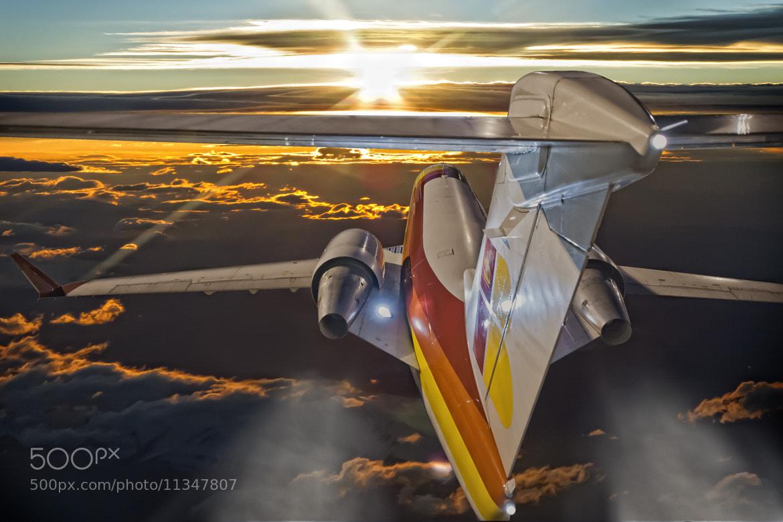 Photograph CRJ Flying at Dawn by Chema Ocaña on 500px