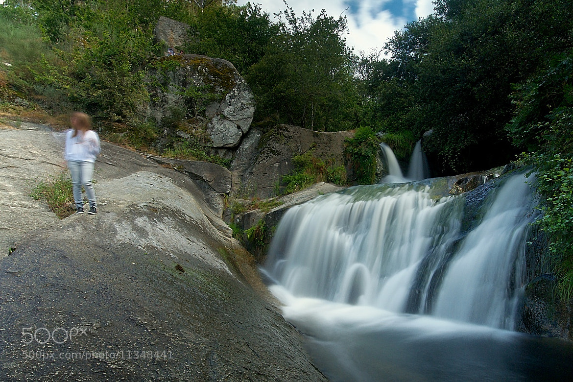 Photograph The young girl at the waterfall by Chema Perez on 500px