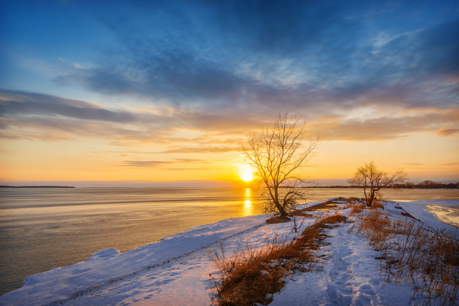 Photograph Sunset at Saint Lawrence River (Montreal) by Viktor Elizarov on 500px