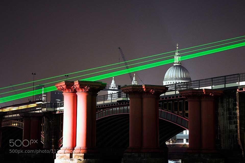 Photograph Lasers across St Paul's, London by Paula Smith on 500px