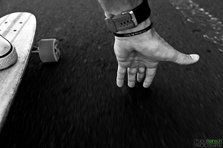 Feeling the asfalt.-