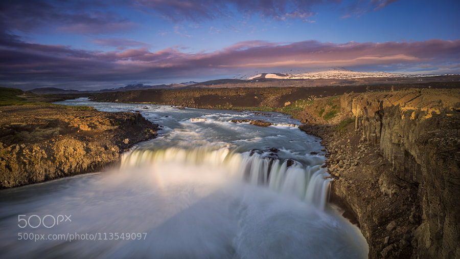 Þjófafoss at dusk by WilliamYu