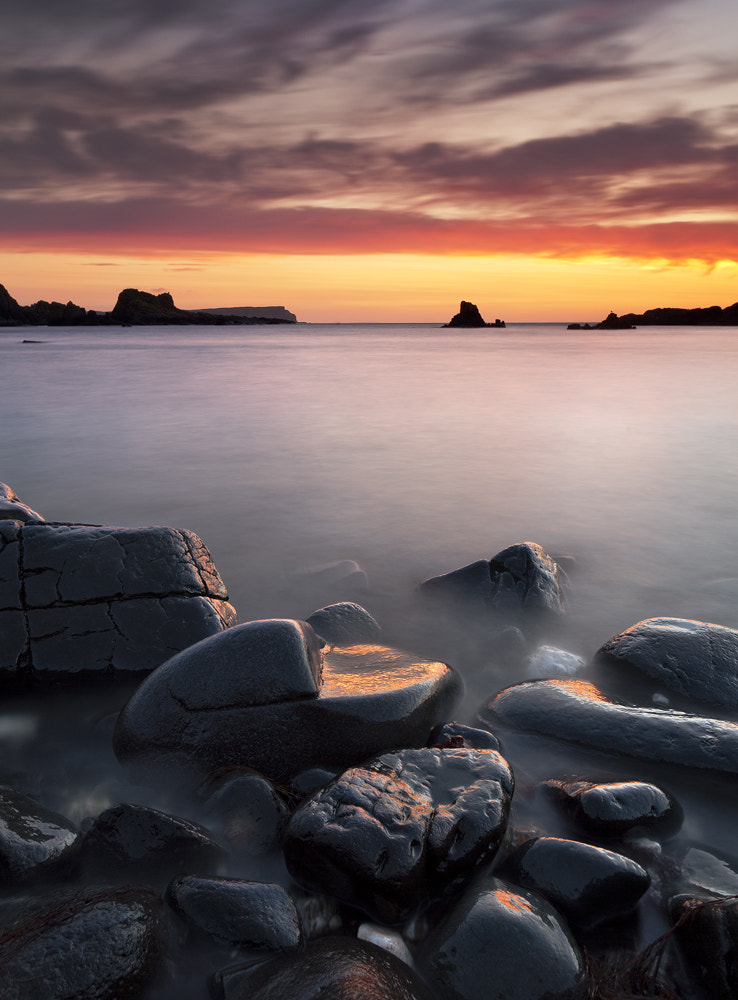 Photograph Sunset at Ballintoy by Gary McParland on 500px