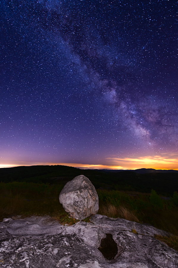 Photograph Stars over Foss Mountain by Michael Blanchette on 500px