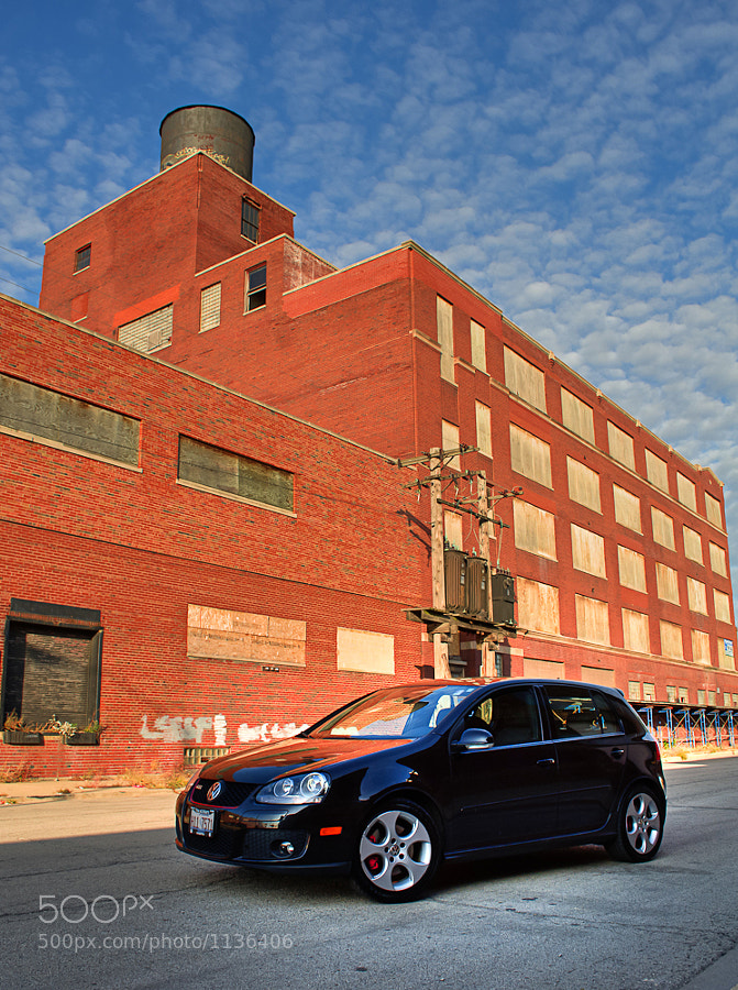 Got my car washed and shot it in front of one of the many abandoned buildings on Chicago's west side.