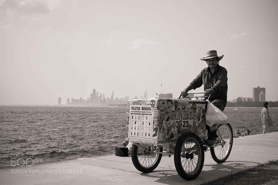 A staple of summer time in Chicago. I spotted him at the Air and Water Show at Montrose Harbor.