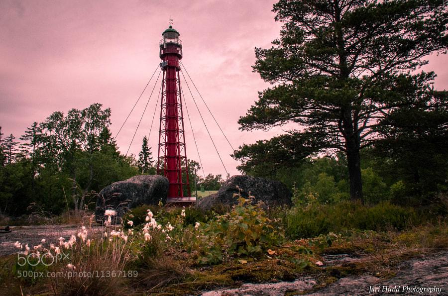 Lighthouse outside Vaasa in the World Heritage Site Kvarken Archipelago