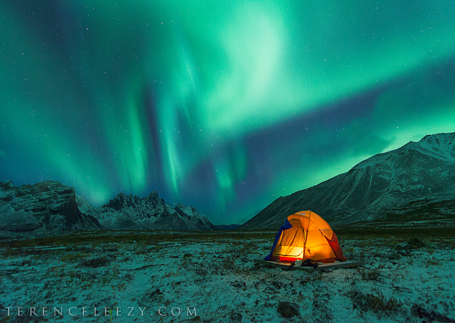 Camping under Northern Lights by Terence Leezy on 500px.com
