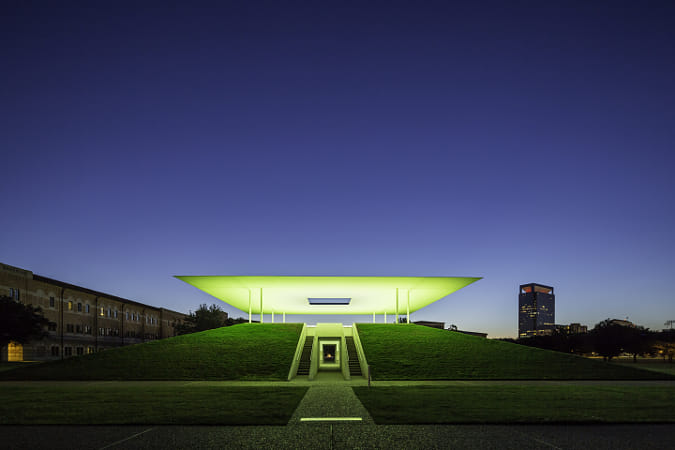 James Turrell Skyspace Twilight Epiphany - Green by Kimberly Potvin on 500px