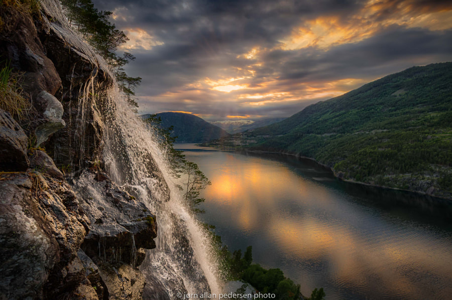 On top of the waterfall by Jørn Allan Pedersen on 500px.com