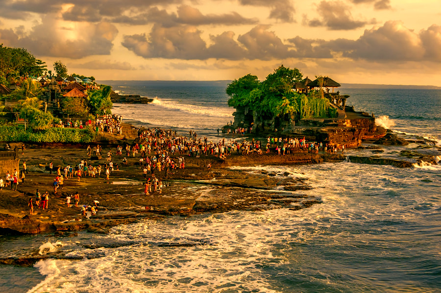 Photograph Sunset at Tanah Lot Temple by Csilla Zelko on 500px
