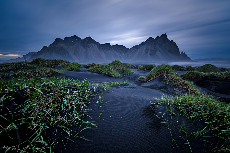 Blue time Vestrahorn by Etienne Ruff