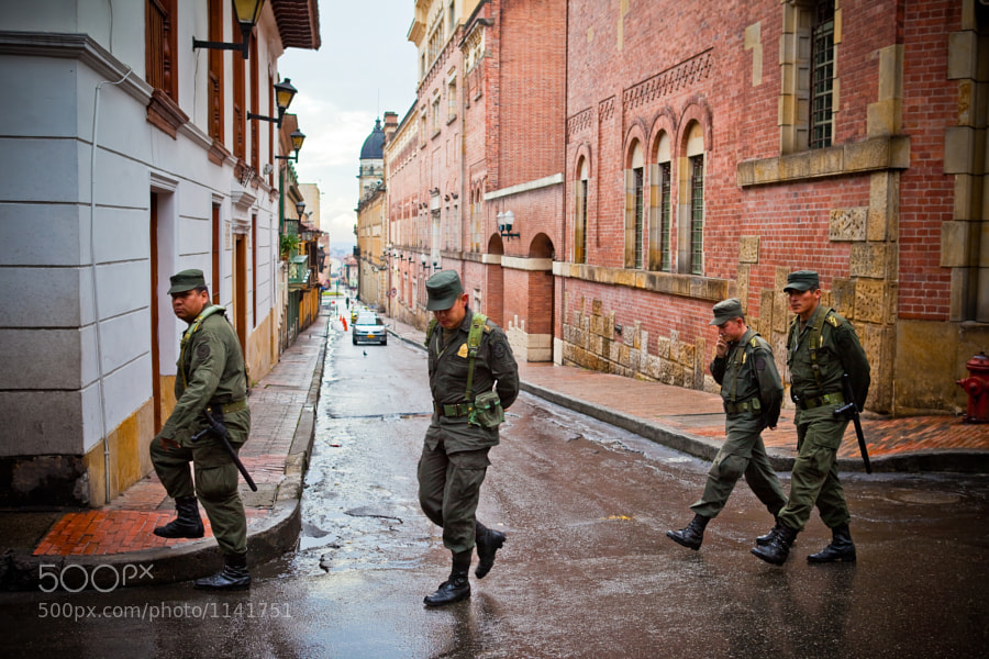Photograph Soldiers in Bogota by Jeremy Nielsen on 500px