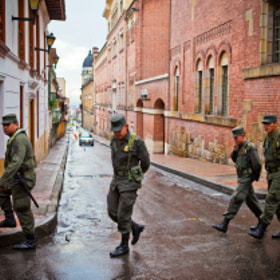 Soldiers in Bogota by Jeremy Nielsen (bsdphotography)) on 500px.com