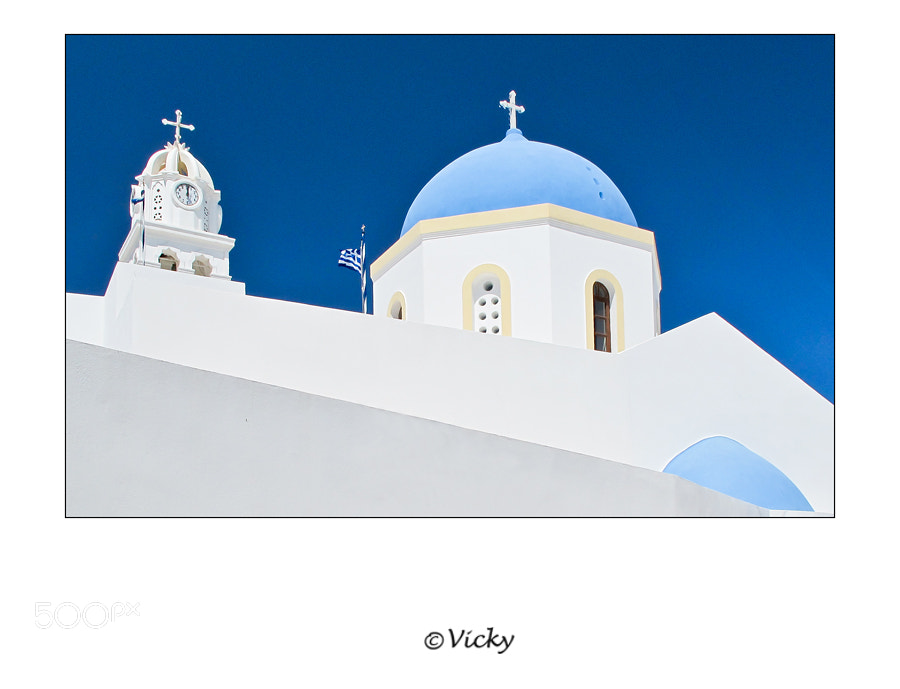 Photograph church, Santorini by Vicky Dens on 500px