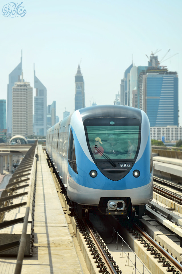 Photograph Dubai Metro arriving by Hisham Karouri  on 500px