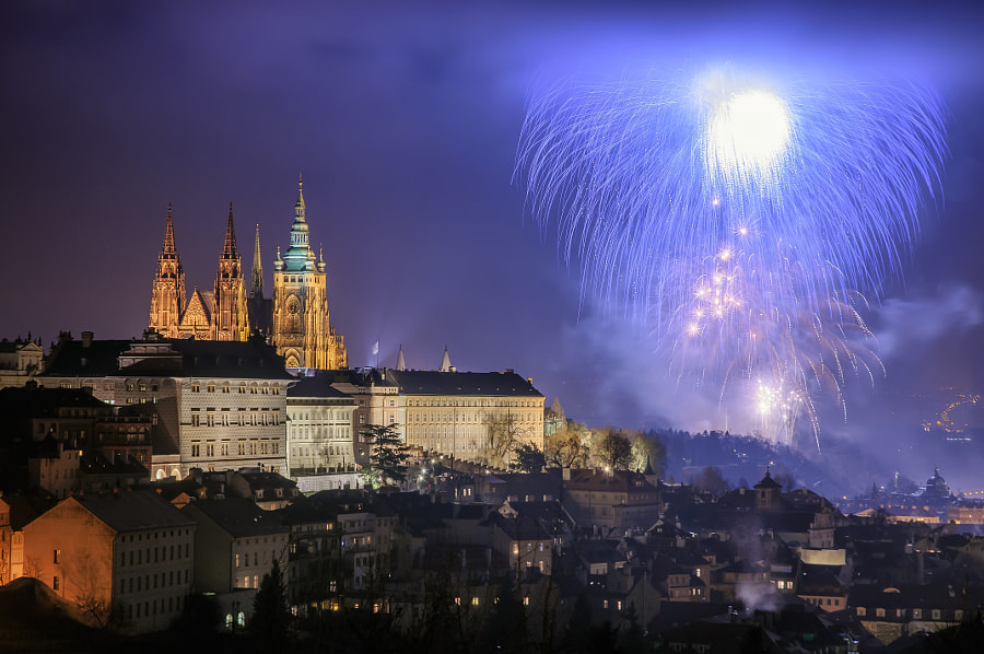 Prague Fireworks 2015 #2 by Marek Kijevský on 500px.com
