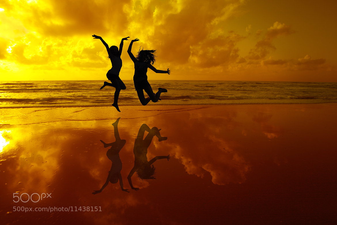 Photograph Sunset Beach Jump by Andy Graham on 500px