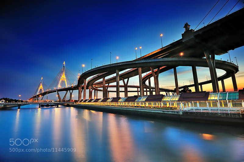 Photograph Bhumibol bridge, Thailand by Kittipop Laohakul on 500px
