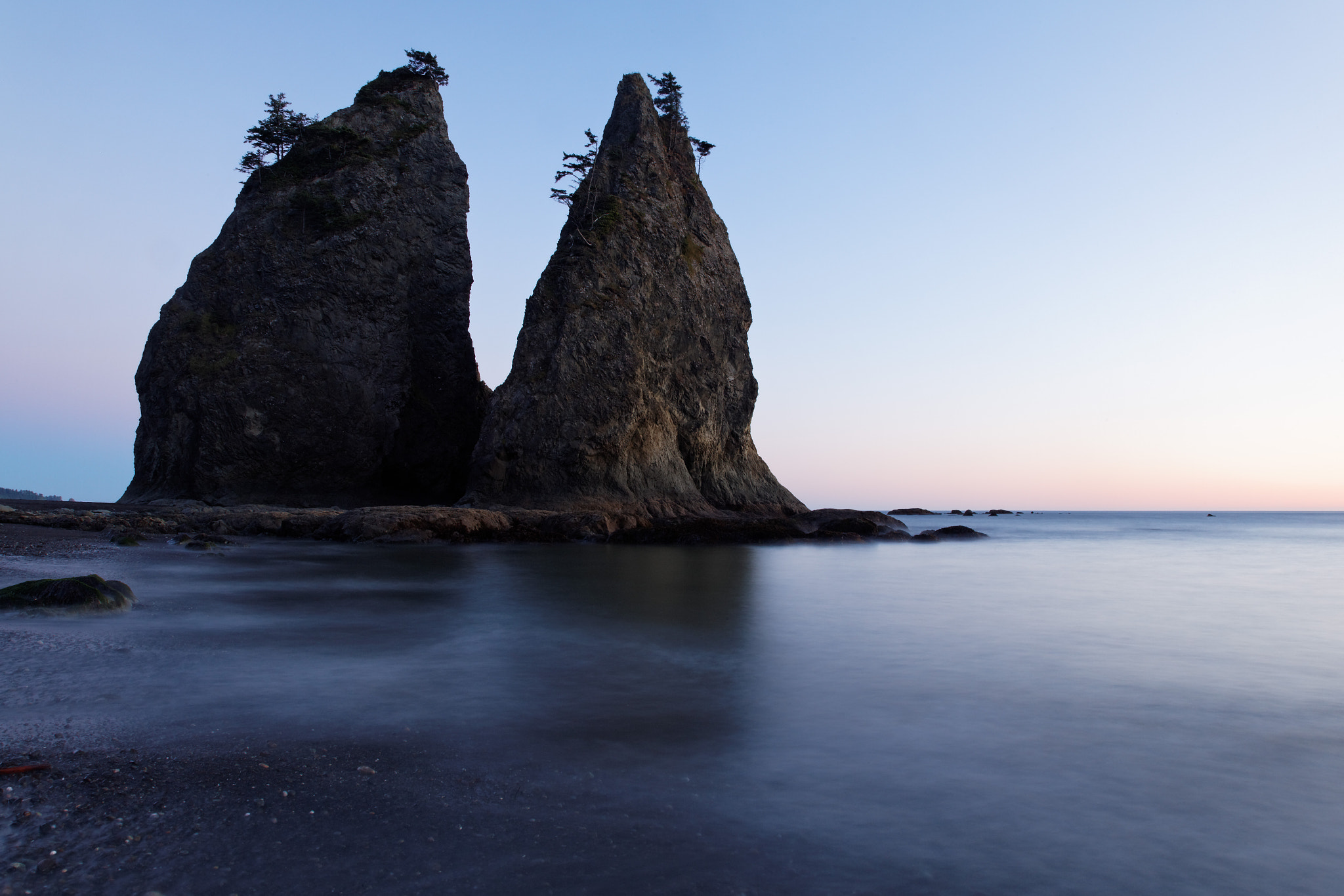 Photograph Sea stack at dusk, Rialto Beach, Olympic National Park, Washington State, USA by Brad Mitchell on 500px
