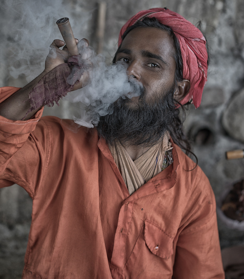 Photograph baba smoking Haridwar india by enrico barletta on 500px