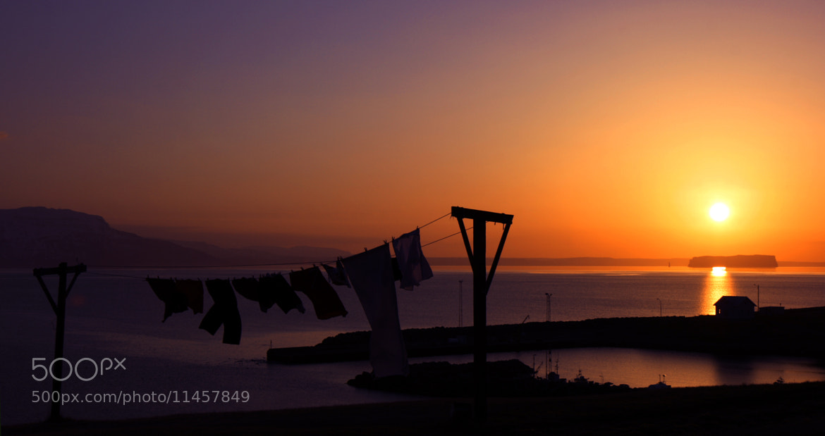 Photograph Hanging out for dry in the sunset by Jon Hilmarsson on 500px