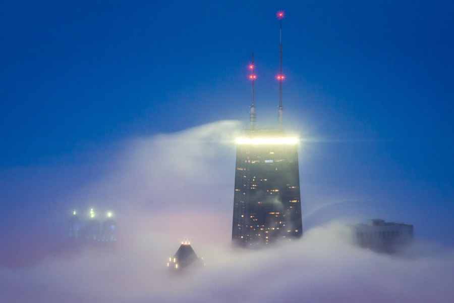 Photograph Cloud Chicago - Blue Hour Hancock by Peter Tsai on 500px