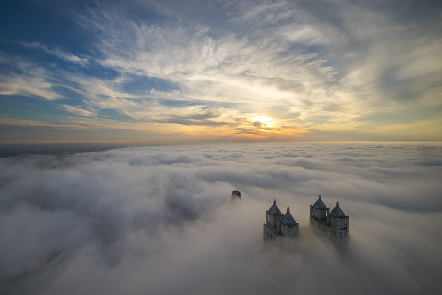 Photograph Cloud Chicago - Foggy Stream by Peter Tsai on 500px