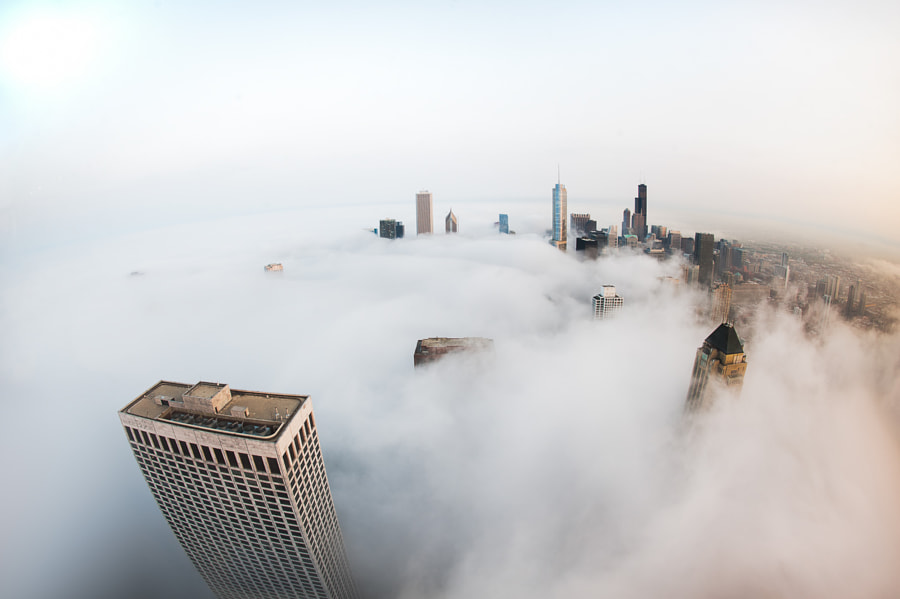 Photograph Cloud Chicago - Above the Clouds by Peter Tsai on 500px