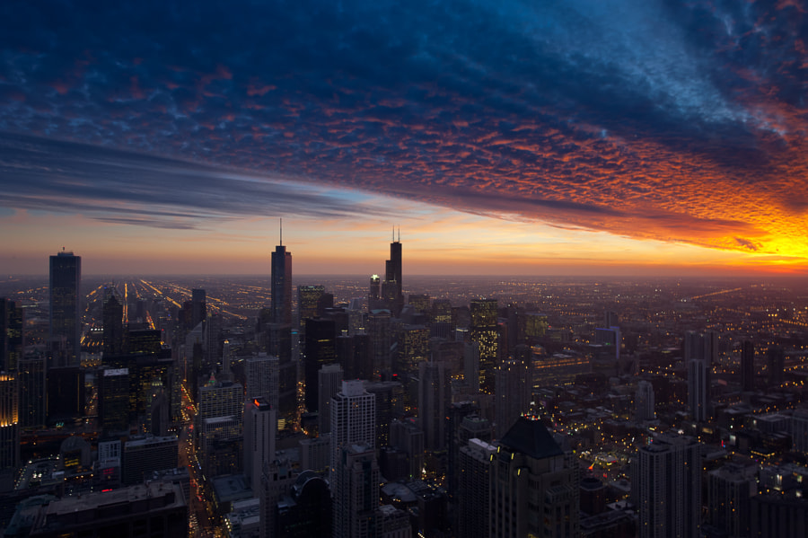 Photograph Cloud Chicago - End of Days by Peter Tsai on 500px